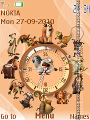 Скриншот темы Ice Age SWF Clock
