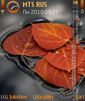 Leaves-red es el tema de pantalla
