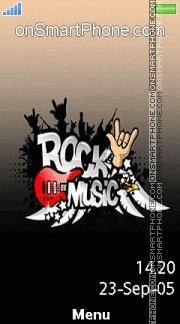 Rock Music es el tema de pantalla