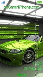 Bmw Green Z4 01 es el tema de pantalla