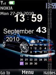 Bmw Calender Clock theme screenshot