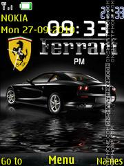 Ferrari Dual Clock theme screenshot