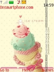Ice Cream 01 theme screenshot