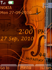 Guitar Clock 01 tema screenshot