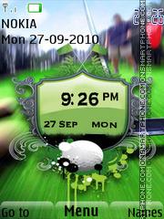Golf Clock es el tema de pantalla