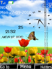 Butterfly Dual Clock Theme-Screenshot