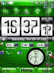 Htc Nokia Clock theme screenshot