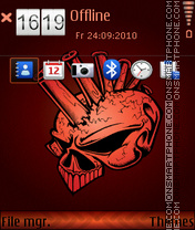 Punk skull 01 theme screenshot