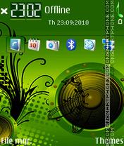 Modern disco theme screenshot