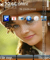 Cute amy jackson theme screenshot