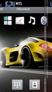 Скриншот темы Yellow Car With Tone