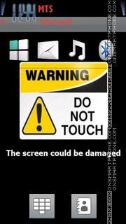 Do Not Touch 02 theme screenshot