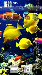 Aquarium Golden Fish theme screenshot