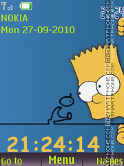 Bart Clock theme screenshot