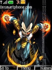 Dark Vegeta theme screenshot