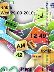 Colourful Nokia 01 theme screenshot