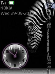 Zebra Clock theme screenshot