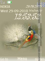 Birds Clock 02 theme screenshot