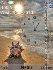 Seashell Clock tema screenshot
