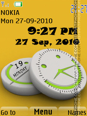 Smiley Clock 01 theme screenshot
