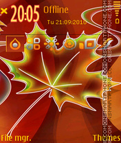 Autumn 2011 theme screenshot