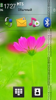 Pink Flower 04 theme screenshot