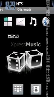 Nokia Xpress Music 08 es el tema de pantalla