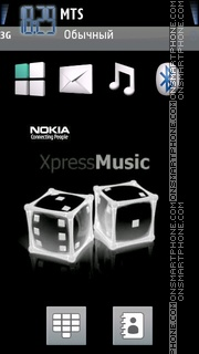 Nokia Xpress Music 08 theme screenshot
