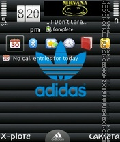 Just adidas by ishaque theme screenshot