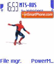 Animated Spiderman Dancing theme screenshot