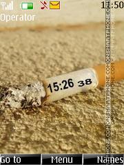 Cigarette clock es el tema de pantalla