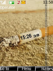 Cigarette clock theme screenshot