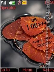Leaf clock es el tema de pantalla