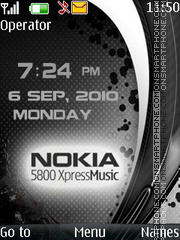 Carbon metal clock theme screenshot