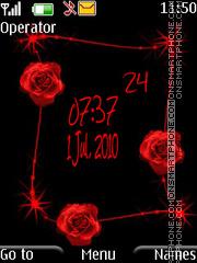 Rose clock es el tema de pantalla