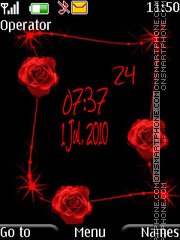 Rose clock theme screenshot
