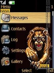 Lion Clock es el tema de pantalla