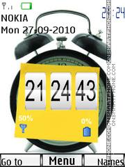 Baterry Signal Clock theme screenshot
