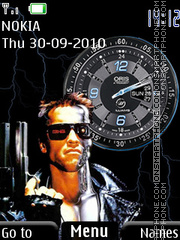 Terminator Clock theme screenshot