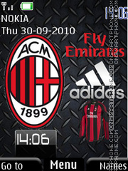 Ac Milan Best theme screenshot