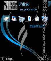 Nokia xpress music 09 theme screenshot