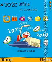 Doraemon 08 theme screenshot