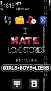 I Hate Love theme screenshot
