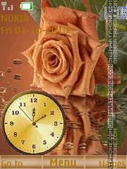 Rose with clock theme screenshot