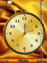 Clock with gold theme screenshot