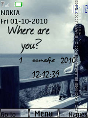 Where are you? es el tema de pantalla