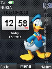Donald Duck Clock es el tema de pantalla