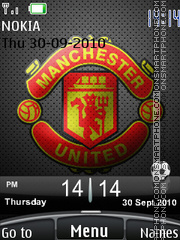 Man United 2010 theme screenshot