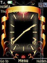 Black and Gold Clock theme screenshot