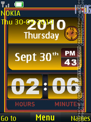 Capture d'écran Flip Clock thème